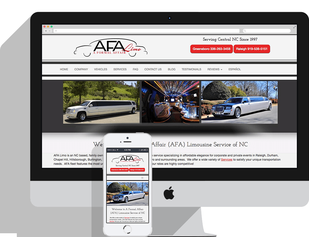 A Formal Affair Limo Responsive Design