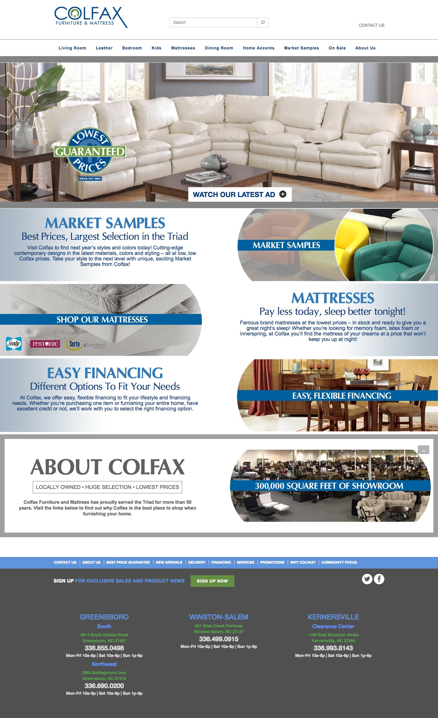 Colfax Furniture Home Page