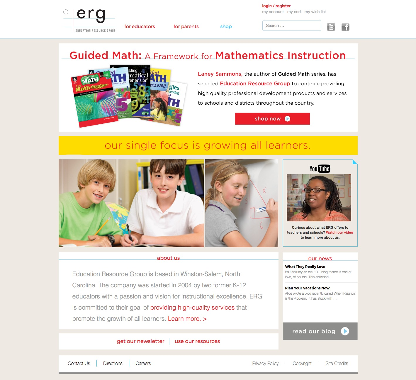 Education Resource Group Home Page