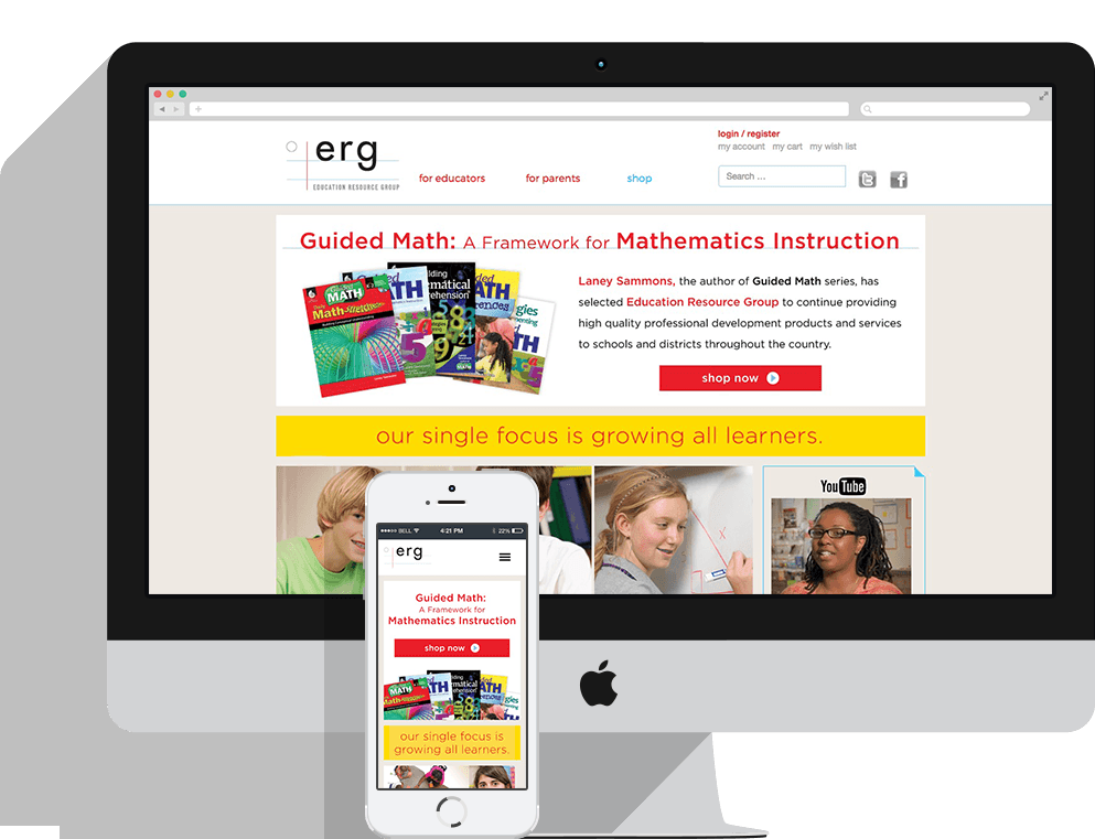 Education Resource Group Responsive Web Site