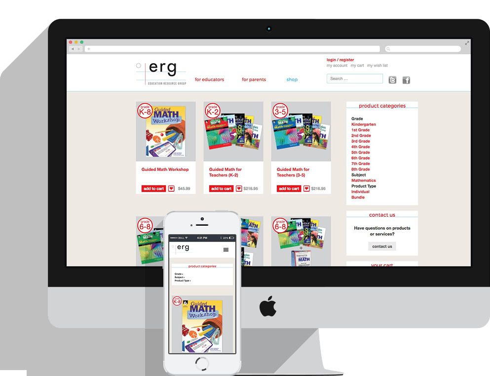 Education Resource Group Responsive Shop