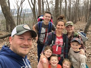 David Morton and family on a hiking trip
