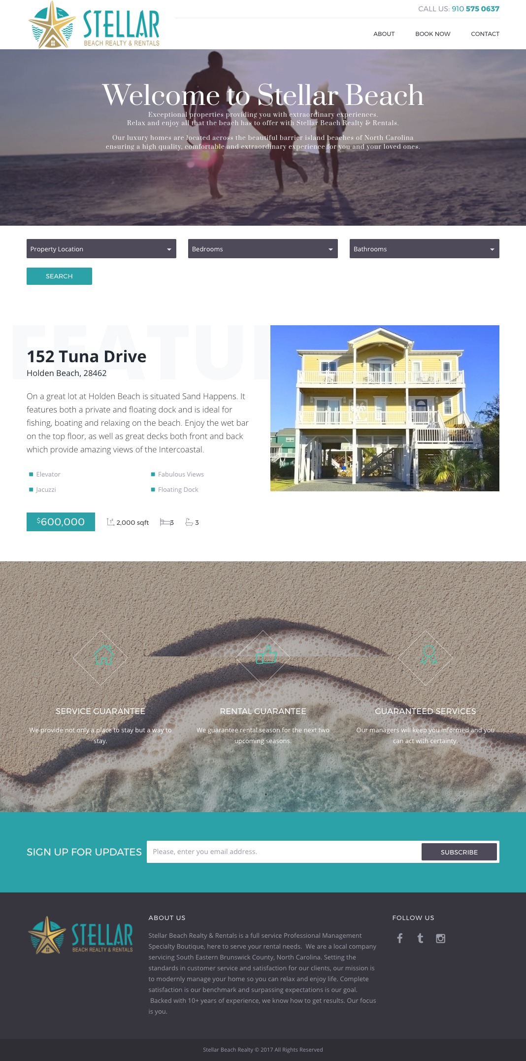 Stellar Beach Realty Home Page