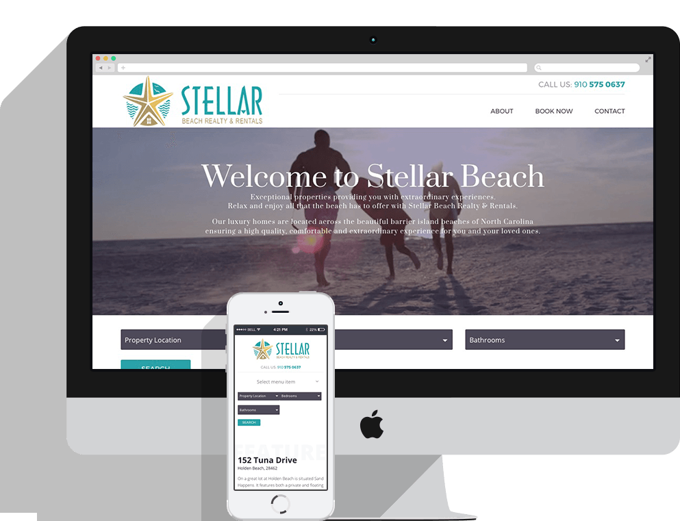 Stellar Beach Realty Responsive Website