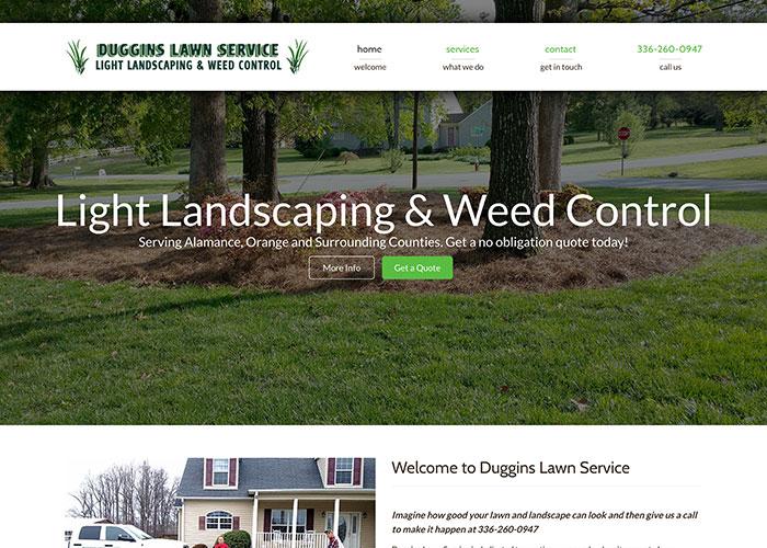 Duggins Lawn Service Responsive Web Design and Web Development