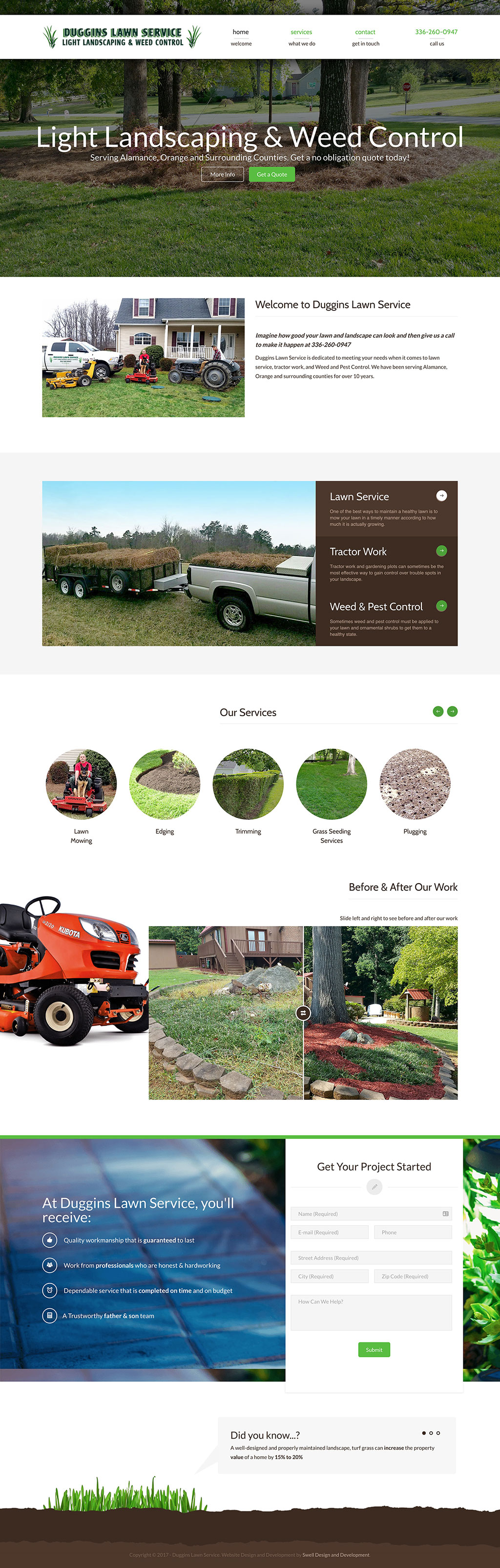 Duggins Lawn Service Home Page