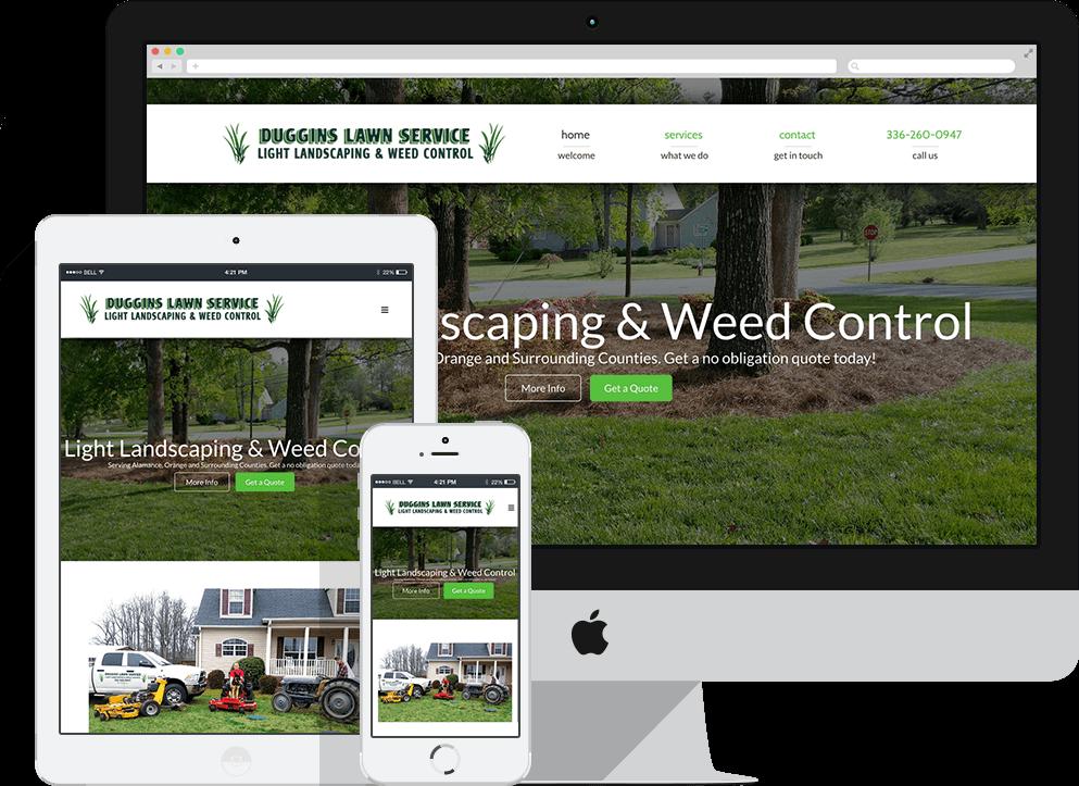 Duggins Lawn Service Responsive Website